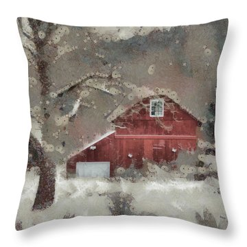 Throw Pillow featuring the mixed media Butter Lane by Trish Tritz