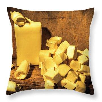 Buttering Up Throw Pillow