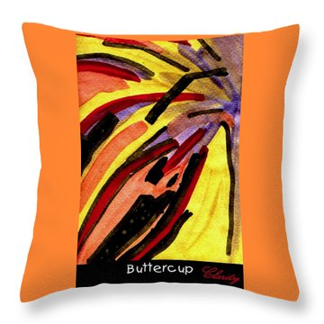 Throw Pillow featuring the painting Buttercup by Clarity Artists