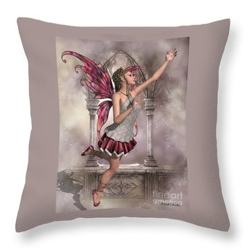 Buttercup Fairy Throw Pillow by Corey Ford