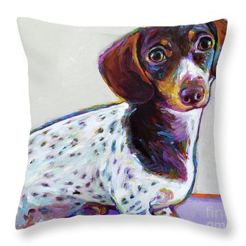 Throw Pillow featuring the painting Buttercup by Robert Phelps