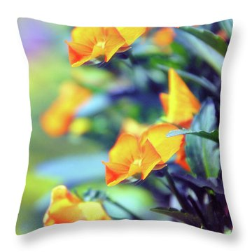 Throw Pillow featuring the photograph Buttercups by Jessica Jenney