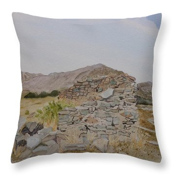 Old Butterfield Stage Station Throw Pillow