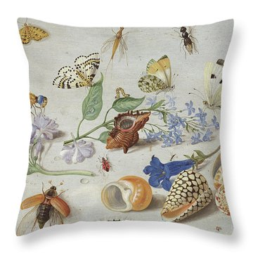 Butterflies And Other Insects, 1661 Throw Pillow