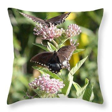 Butterflies Are Free Throw Pillow