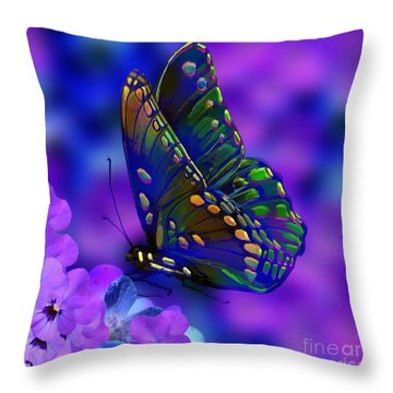 Butterflies Are Free Throw Pillow