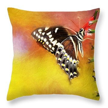 Butterflies Are Self Propelled Flowers Throw Pillow
