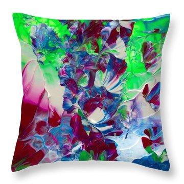 Butterflies, Fairies And Flowers Throw Pillow