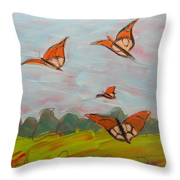 Butterflies Flying 1 Throw Pillow