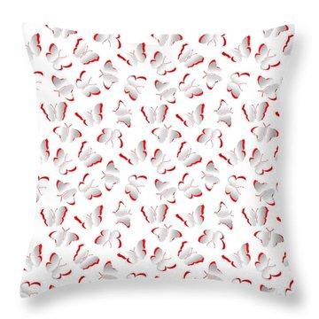Throw Pillow featuring the photograph Butterflies by Gary Crockett