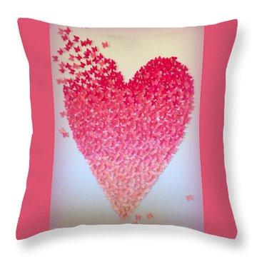 Butterflies Of Love Throw Pillow