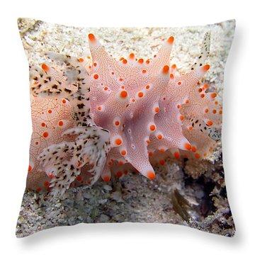 Butterflies Of The Sea Throw Pillow