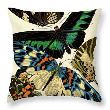 Butterflies, Plate-10 Throw Pillow
