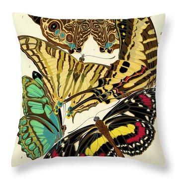 Butterflies, Plate-5 Throw Pillow