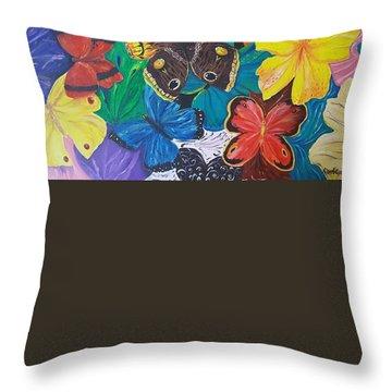 Butterflies 2 Throw Pillow