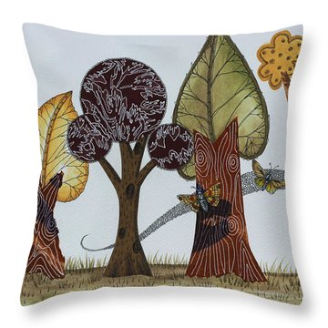Butterflies Romance Throw Pillow