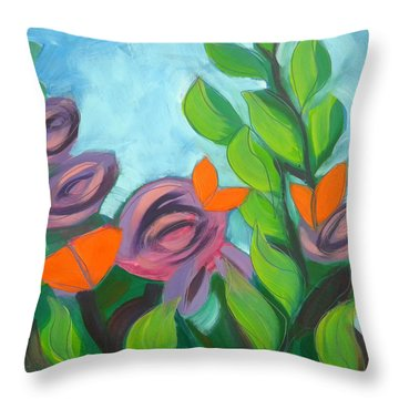 Butterflies Sunning 3 Throw Pillow