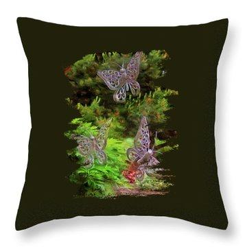 Throw Pillow featuring the photograph Butterflies by Thom Zehrfeld