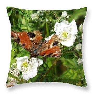 Butterflower Throw Pillow