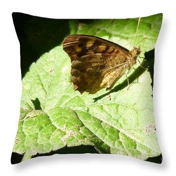 Throw Pillow featuring the photograph Butterfly 2 by Jean Bernard Roussilhe