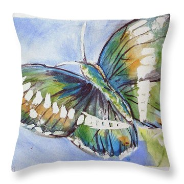 Butterfly 2 Throw Pillow by Loretta Nash