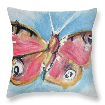 Butterfly 3 Throw Pillow by Loretta Nash