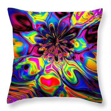Butterfly Abstract Throw Pillow by Maciek Froncisz