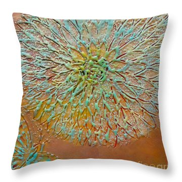Butterfly And Flower Happy Throw Pillow