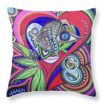 Butterfly And I Throw Pillow