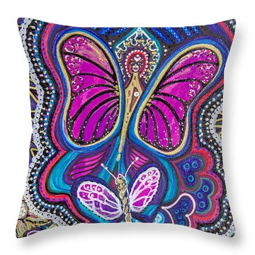 Butterfly Angels Throw Pillow