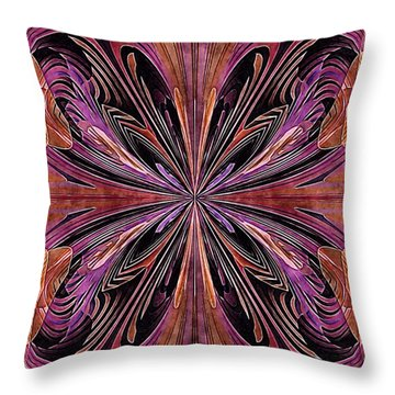 Butterfly Art Nouveau Throw Pillow