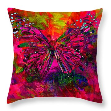 Butterfly Art  They Are The Spirit Of Peace  By Sherriofpalmsprings Throw Pillow