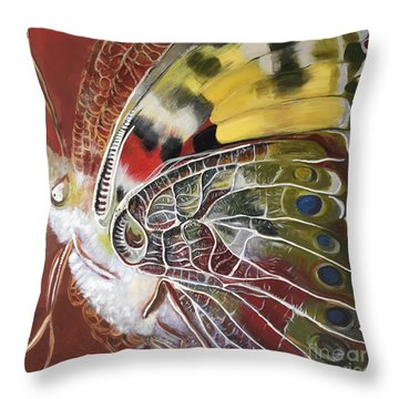 Butterfly Artbox Project 1 Basel Throw Pillow