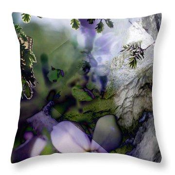 Butterfly Basket Throw Pillow