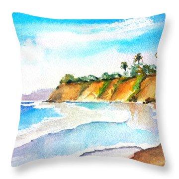 Butterfly Beach Santa Barbara Throw Pillow