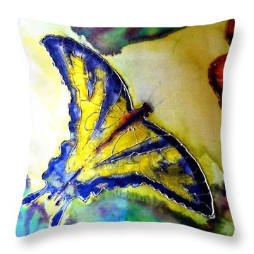Butterfly Throw Pillow by Beverly Johnson