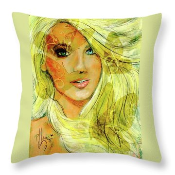 Butterfly Blonde Throw Pillow