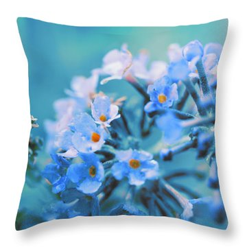 Throw Pillow featuring the photograph Butterfly Bush by Douglas MooreZart