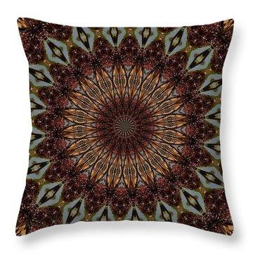 Butterfly Bush Mandala Throw Pillow