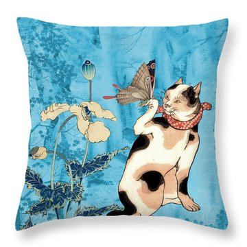 Butterfly Charmer Throw Pillow