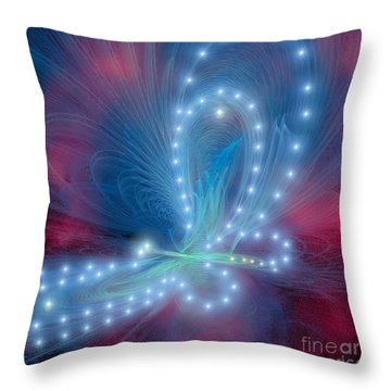 Butterfly Throw Pillow by Corey Ford