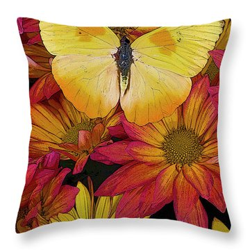 Butterfly Detail Throw Pillow by JQ Licensing