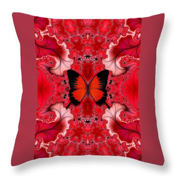 Butterfly Dream Phone Case Throw Pillow by Lea Wiggins