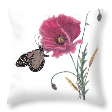 Butterfly Dreaming Throw Pillow