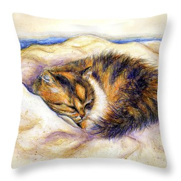 Butterfly Dreams Throw Pillow by Retta Stephenson
