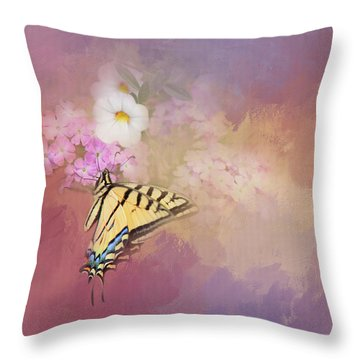 Throw Pillow featuring the photograph Butterfly Dreams by Theresa Tahara