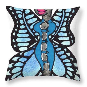 Butterfly Flight Attendant Throw Pillow