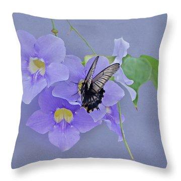 Butterfly Fluttering Throw Pillow
