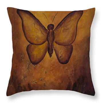 Butterfly Freedom Throw Pillow