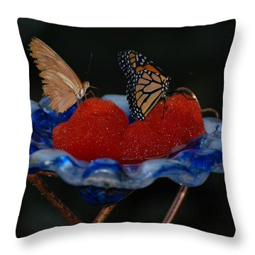 Throw Pillow featuring the photograph Butterfly Fruit by Richard Bryce and Family